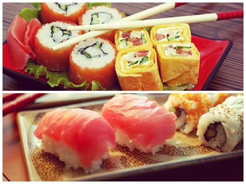 Техника поедания суши и роллов