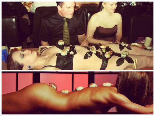 Едим суши с тела девушки: ниотамори