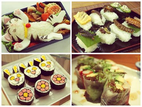 Необычные суши и роллы